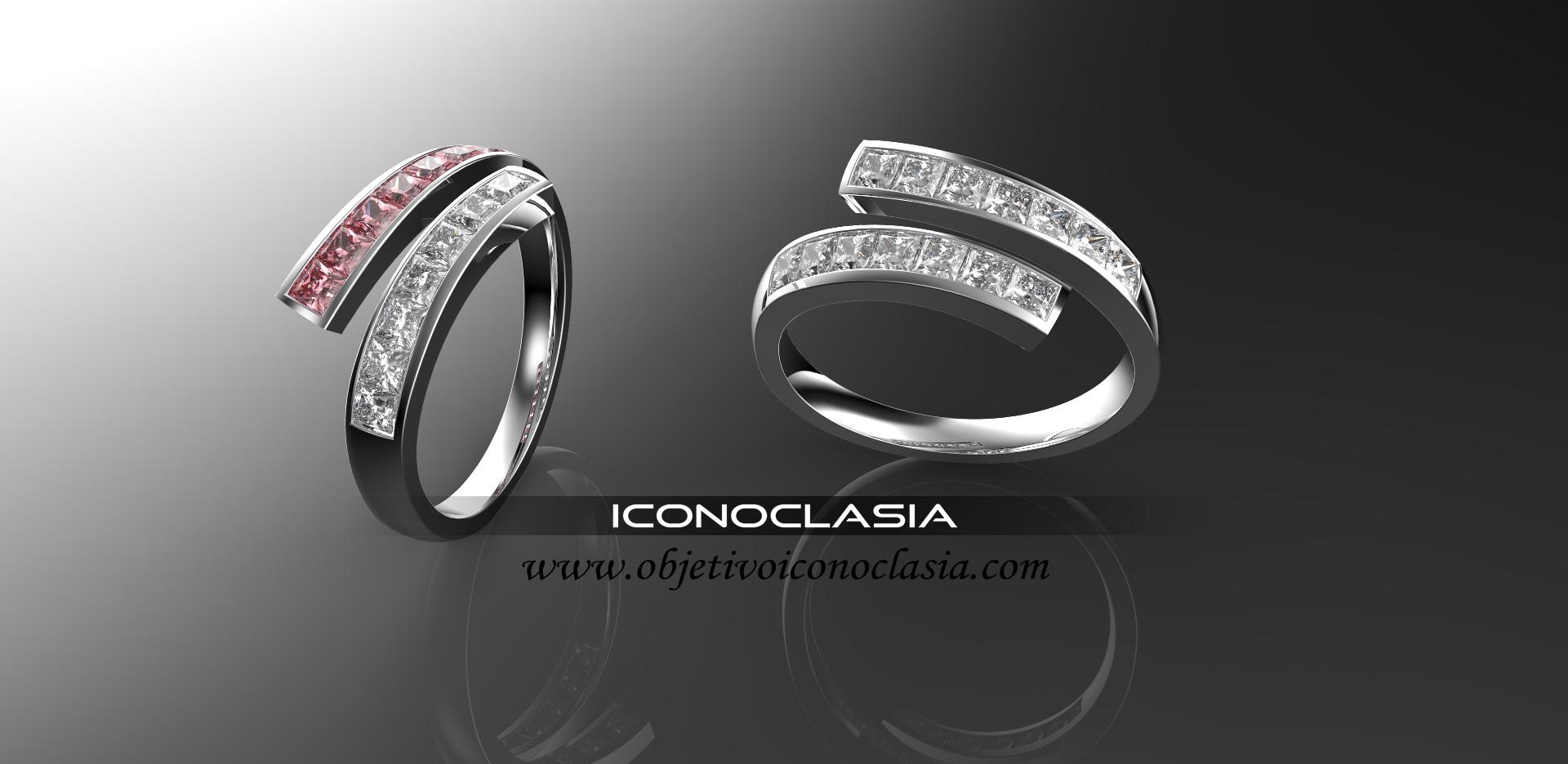 0a368ae30ded anillo medio sin fin cruzado de turmalina y diamantes